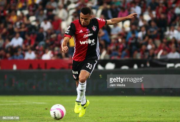 Ravel Morrison of Atlas drives the ball during the 10th round match between Atlas and Morelia as part of the Torneo Apertura 2017 Liga MX at Jalisco...