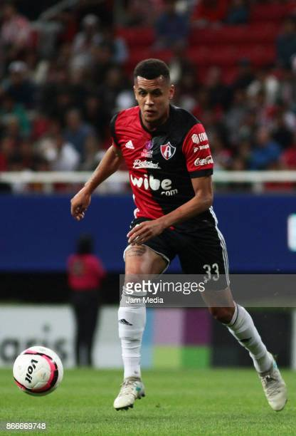 Ravel Morrison of Atlas drives the ball during the round of sixteen match between Chivas and Atlas as part of the Copa MX Apertura 2017 at Chivas...