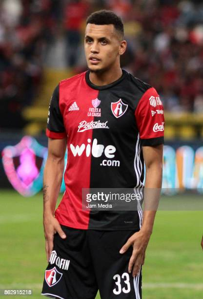 Ravel Morrison of Atlas gestures during the 10nd round match between Atlas and Morelia as part of the Torneo Apertura 2017 Liga MX at Jalisco Stadium...