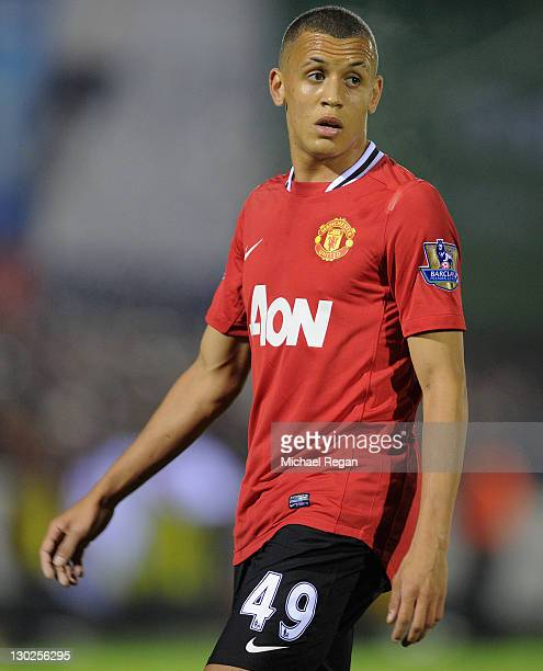 Ravel Morrison of Manchester United looks on during the Carling Cup fourth round match between Aldershot Town and Manchester United at the EBB...