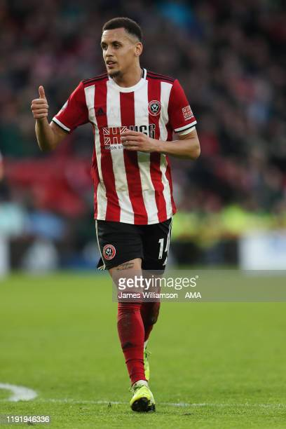 Ravel Morrison of Sheffield United during the FA Cup Third Round match between Sheffield United and AFC Fylde at Bramall Lane on January 5, 2020 in...
