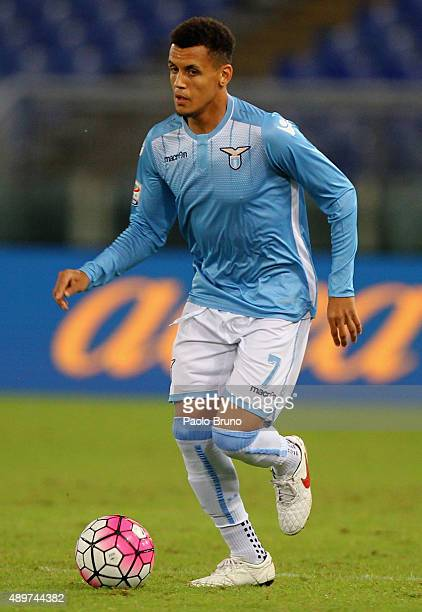 Ravel Morrison of SS Lazio in action during the Serie A match between SS Lazio and Genoa CFC at Stadio Olimpico on September 23 2015 in Rome Italy