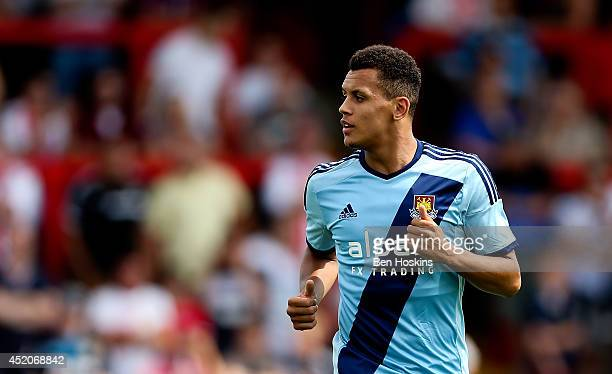 Ravel Morrison of West Ham looks on during the Pre Season Friendly match between Stevenage and West Ham United at The Lamex Stadium on July 12 2014...