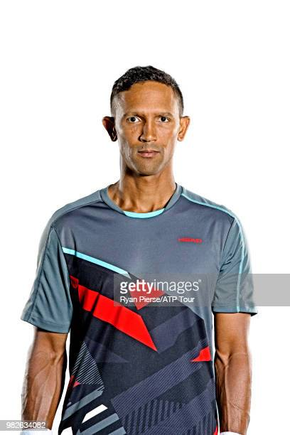 Raven Klaasen of South Africa poses for portraits during the Australian Open at Melbourne Park on January 14 2018 in Melbourne Australia