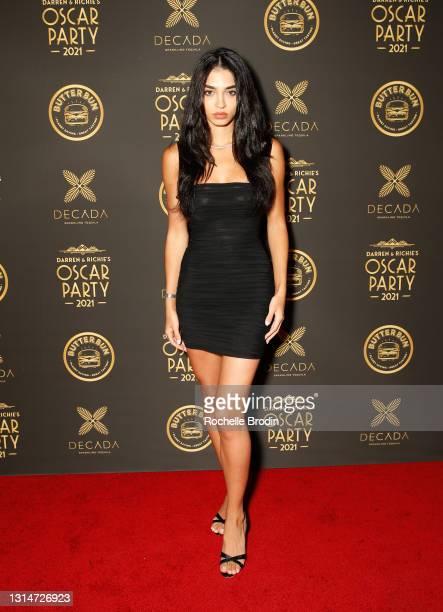 Raven Lyn attends Darren Dzienciol & Richie Akiva's Oscar Party 2021 on April 25, 2021 in Bel Air, California.
