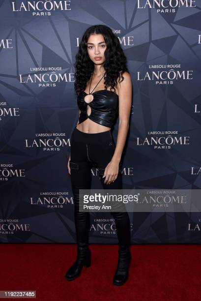 Raven Lyn attends Lancôme x Vogue L'Absolu Ruby Holiday Event at Raspoutine on December 05 2019 in West Hollywood California
