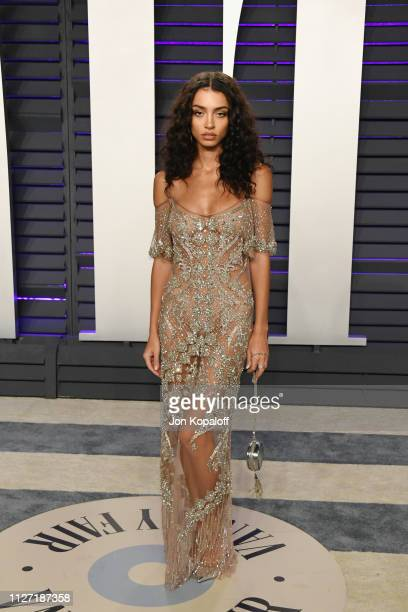 Raven Lyn attends the 2019 Vanity Fair Oscar Party hosted by Radhika Jones at Wallis Annenberg Center for the Performing Arts on February 24 2019 in...