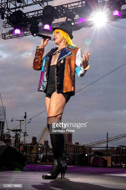 Raven O onstage during Wigstock 2018 at Pier 17 on September 1, 2018 in New York City.