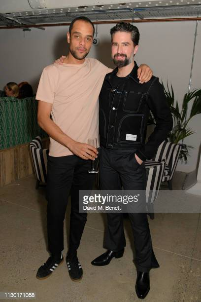 Raven Smith and Jack Guinness attend a private dinner to celebrate the launch of the new ALEXACHUNG x Sunglass Hut eyewear collection at Wild by Tart...