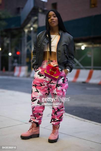Raven Sorvino is seen attending VFILES during New York Fashion Week wearing Acne Studios and Prada on September 6 2017 in New York City