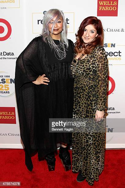 Raven Symone and Anneliese van der Pol attend 2015 GLSEN Respect Awards on June 1 2015 in New York City