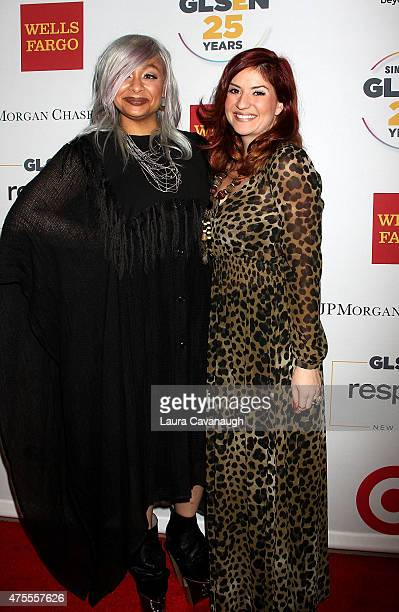 Raven Symone and Anneliese van der Pol attend the 2015 GLSEN Respect Awards at Cipriani 42nd Street on June 1 2015 in New York City