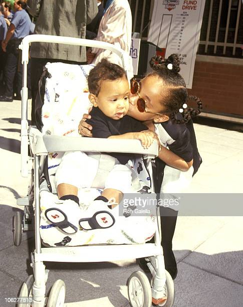 Raven Symone and Brother Blaize Pearman during Helping Hands Event at Ronald McDonald House July 22 1992 at Ronald McDonald House in New York City...