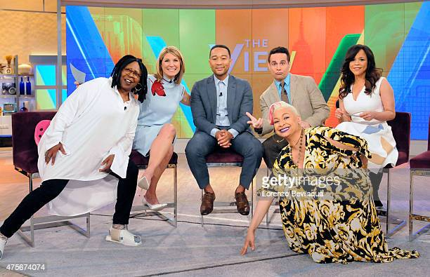 THE VIEW Raven Symone and Mario Cantone are the guest cohosts Tuesday May 26 2015 on Walt Disney Television via Getty Images's The View The View airs...