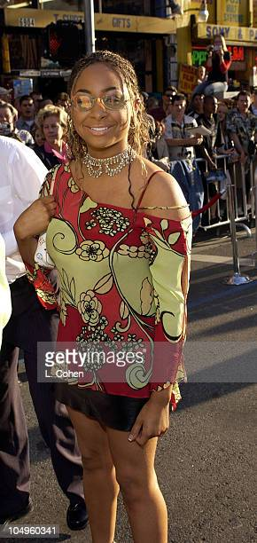 Raven Symone during The Lizzie McGuire Movie Premiere at The El Capitan Theater in Hollywood California United States