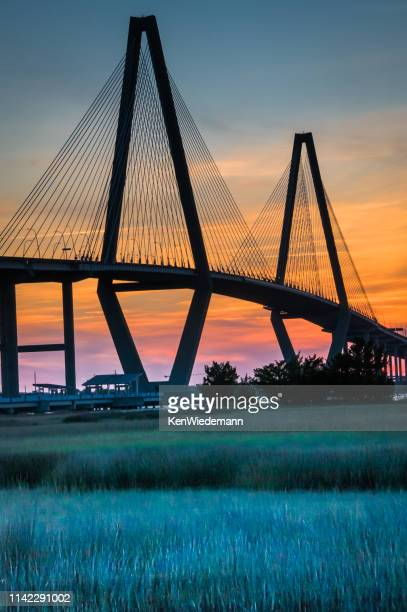 ravenel bridge detail - template_talk:south_carolina stock pictures, royalty-free photos & images