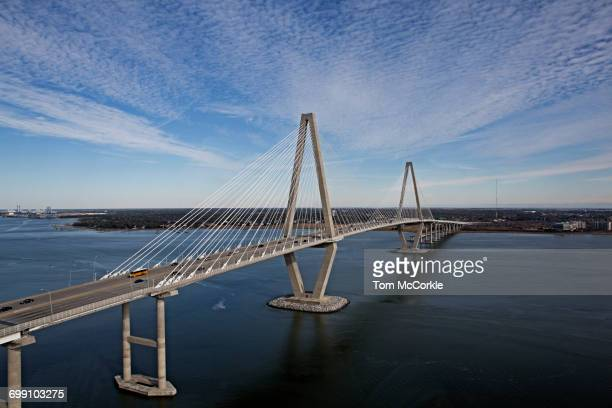 ravenell bridge - suspension bridge stock pictures, royalty-free photos & images