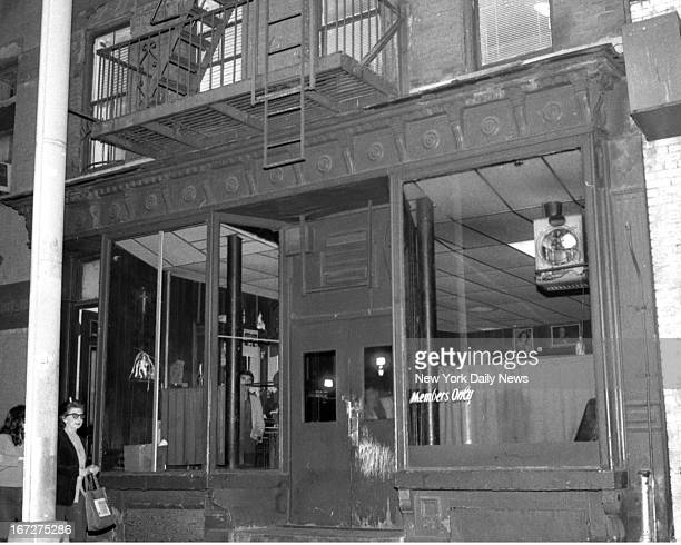 Ravenite Social Club 247 Mulberry st where Aniello DellaCroce aka 'Mr Neil' was arrested DellaCroce was found hiding in the bathroom of his Little...