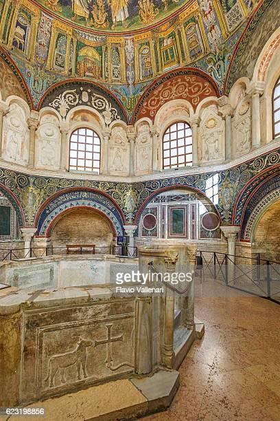 Ravenna, Baptistery of Neon - Battistero Neoniano. Italy