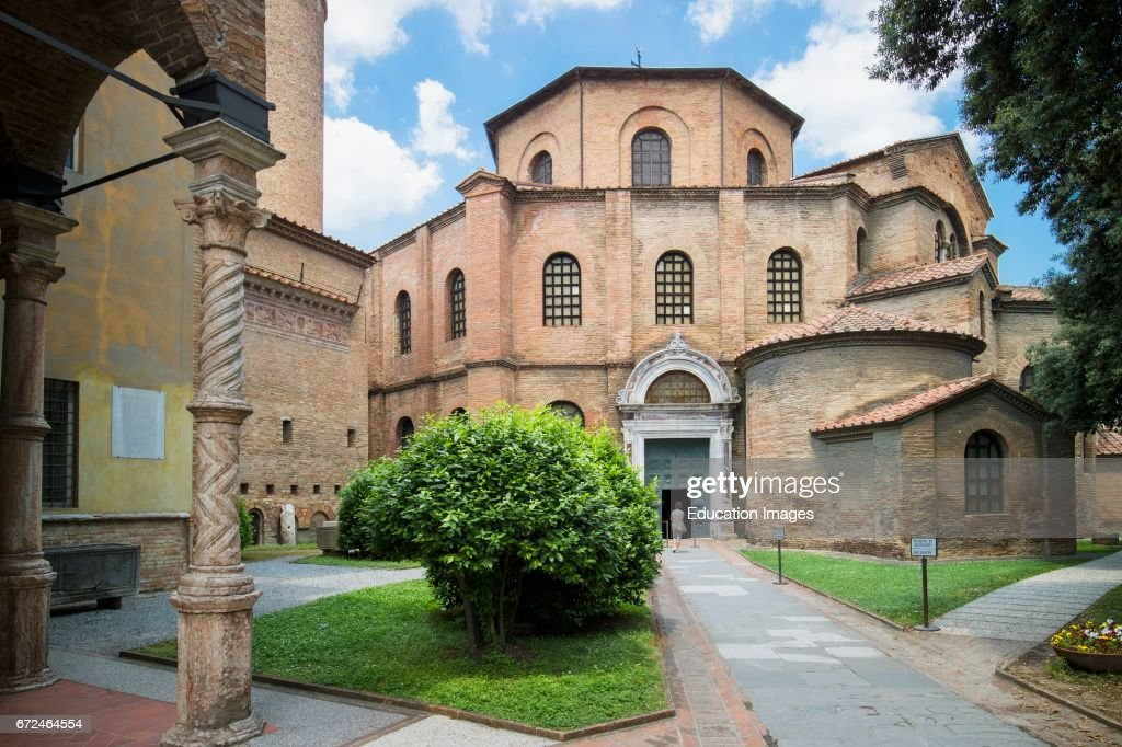 Ravenna, Italy, Exterior of San Vitale basilica : News Photo