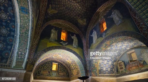 Ravenna Ravenna Province Italy Interior of the 5th century mausoleum Mausoleo di Galla Placidia Mosaic of The Good Shepherd The Mausoleum is one of...