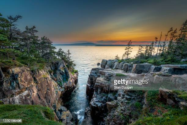 ravens nest overlook, acadia national park, schoodic peninsula  (#2) - maine stock pictures, royalty-free photos & images