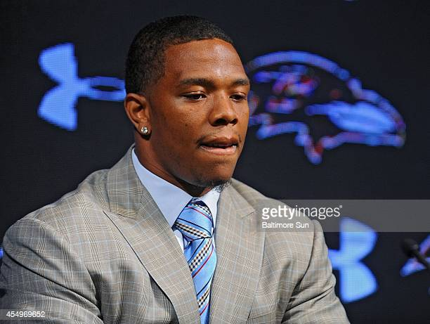 Ravens running back Ray Rice and his wife Janay made statements to the news media May 5 at the Under Armour Performance Center in Owings Mills, Md,...