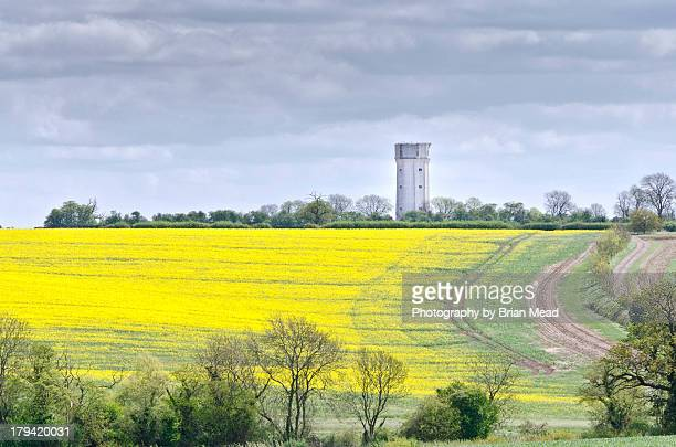 ravensdon water tower on sunderland hill - bedfordshire stock photos and pictures