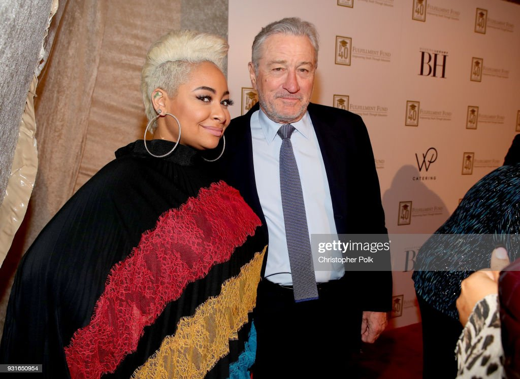 Raven-Symone (L) and Robert De Niro attend A Legacy Of Changing Lives presented by the Fulfillment Fund at The Ray Dolby Ballroom at Hollywood & Highland Center on March 13, 2018 in Hollywood, California.