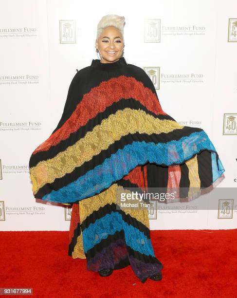 RavenSymone attends A Legacy of Changing Lives presented by The Fulfillment Fund held at The Ray Dolby Ballroom at Hollywood Highland Center on March...