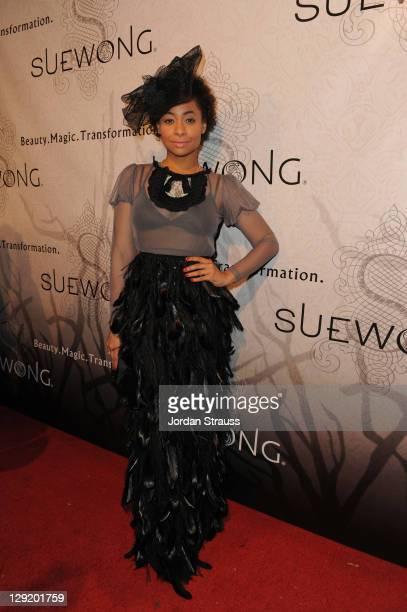 """Raven-Symone attends Sue Wong Presents """"Lady Or Vamp"""" Spring 2012 Fashion Preview at Voyeur on October 13, 2011 in West Hollywood, California."""