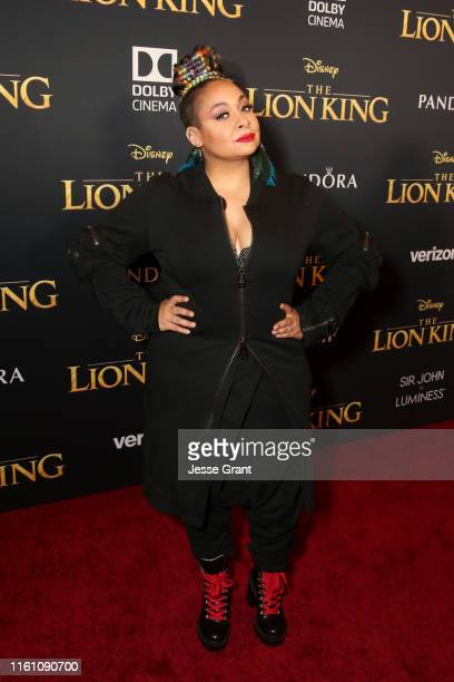 RavenSymone attends the World Premiere of Disney's THE LION KING at the Dolby Theatre on July 09 2019 in Hollywood California