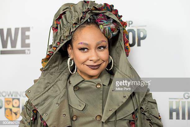 """Raven-Symone attends WE tv's """"Growing Up Hip Hop"""" premiere party at Haus on December 10, 2015 in New York City."""
