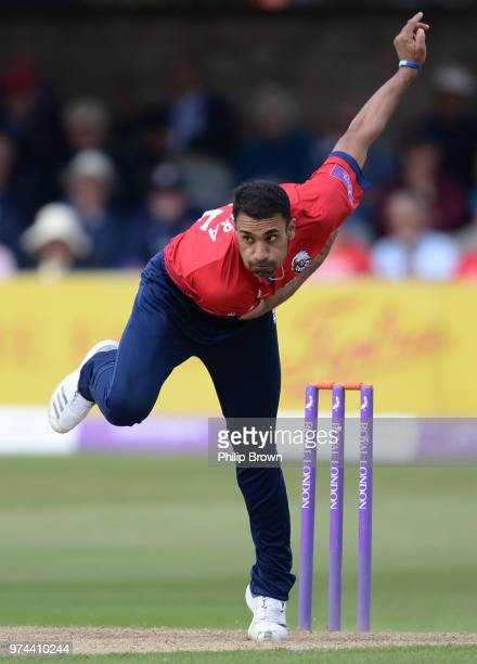 Ravi Bopara of Essex Eagles bowls during the Royal London OneDay Cup match between Essex Eagles and Yorkshire Vikings at the Cloudfm County Ground on...