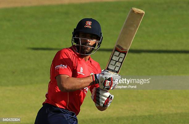 Ravi Bopara of Essex hits out during the Royal London OneDay Cup match between Essex and Kent at the Ford County Ground on June 15 2016 in Chelmsford...