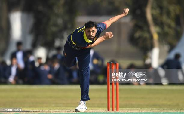 Ravi Bopara of the MCC bowls during the T20 match between Northern and the MCC at Aitchison College on February 17, 2020 in Lahore, Pakistan.
