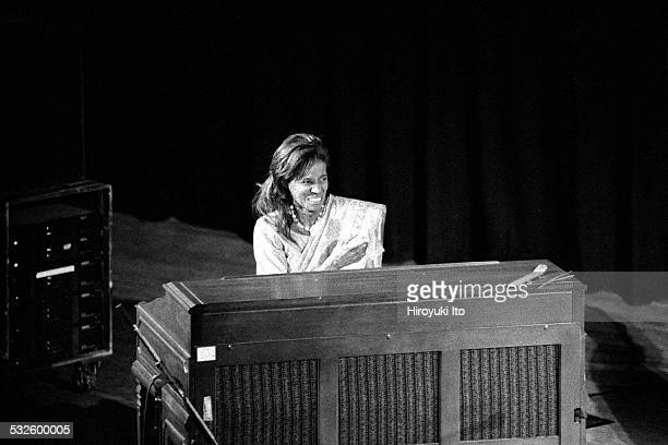 Ravi Coltrane and Alice Coltrane performing at Town Hall as part of the Texaco New York Jazz Festival on June 14 1998This imageAlice Coltrane