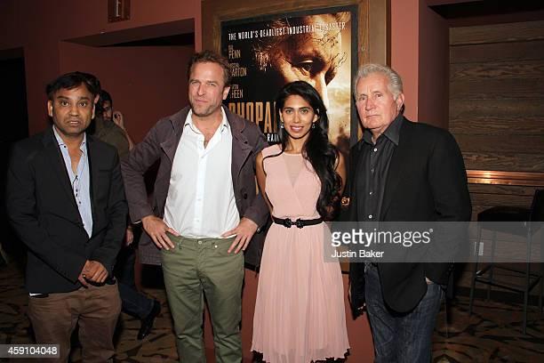 Ravi Kumar David Brooks Fagun Thakrar and Martin Sheen attend Revolver Entertainment Presents 'Bhopal A Prayer For Rain' Los Angeles opening weekend...