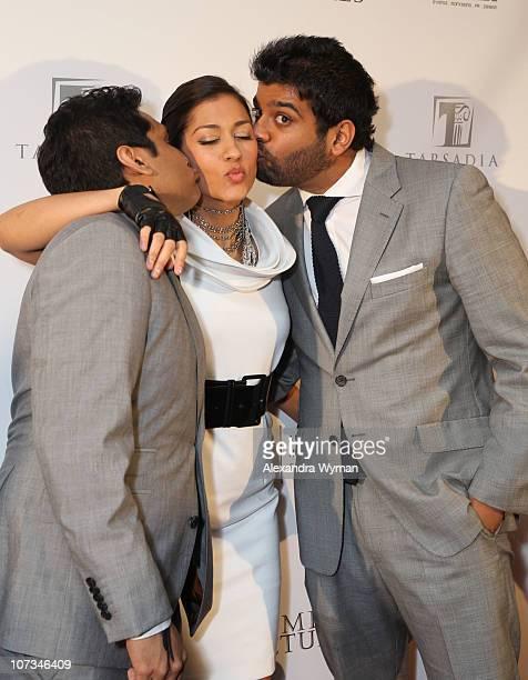 Ravi Patel Janina Gavankar and Sunkrish Bala at The 7th Annual AIF Southern California Gala Wheel Power held at The Ritz Carlton Hotel on December 5...