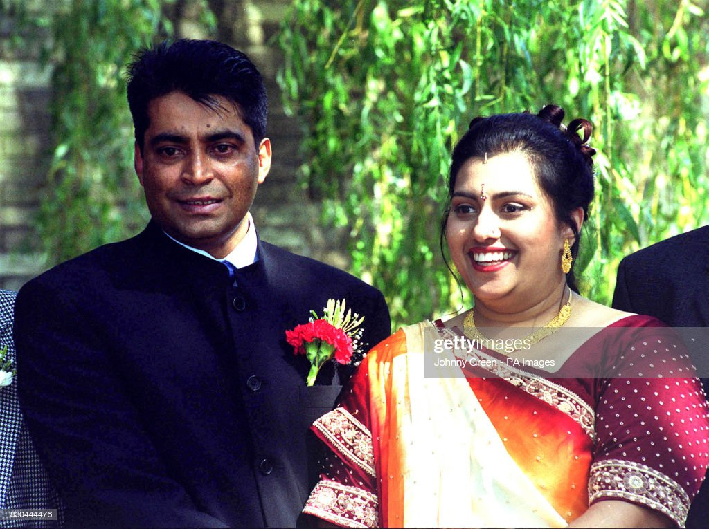 Ravi Ram 38 With His 24 Year Old Wife Mamta Outside The Registry
