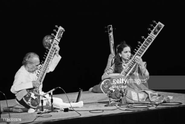 Ravi Shankar and his daughter Anoushka Shankar perform at Lehigh University's Baker Hall on April 18 in Bethlehem Pennsylvania