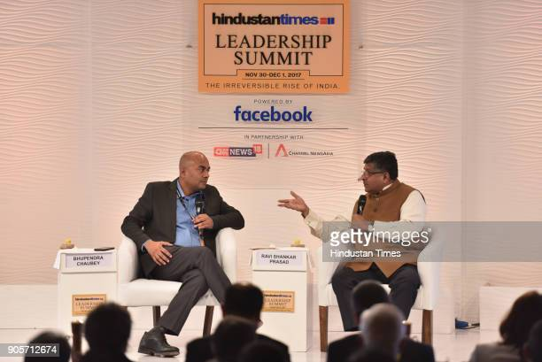 Ravi Shankar Prasad Union Minister of Law and Justice and Electronics and Information Technology in conversation with Bhupendra Chaubey Executive...
