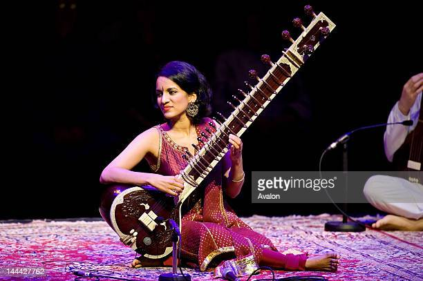 Ravi Shankar's daughter Anoushka performing at the Barbican Centre London on 4th June 2008 during his Final Tour of Europe Job 45230 Ref HDR Non...