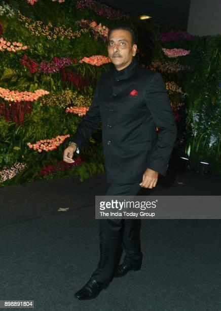 Ravi Shastri at Virat Kohli and Anushka Sharmas reception in Mumbai