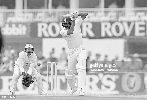 Ravi Shastri batting for India during his innings of 187 in the 3rd Test match between England and India at The Oval London 23rd August 1990 Jack...