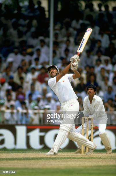 Ravi Shastri of India in action during a Tournament in Sharjah United Arab Emirates Mandatory Credit Allsport UK /Allsport