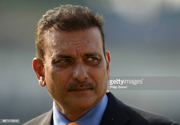 Ravi Shastri pictured after the ICC Champions Trophy final match between India and Pakistan at the Kia Oval cricket ground on June 18 2017 in London...