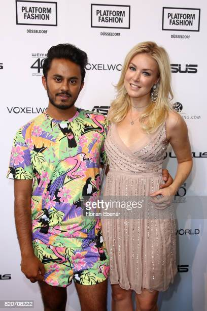 Ravi Walia and Nina Ensmann attends the 3D Fashion Presented By Lexus/Voxelworld show during Platform Fashion July 2017 at Areal Boehler on July 22,...