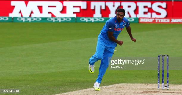 Ravichandran Ashwin of India during the ICC Champions Trophy Warmup match between India and Bangladesh at The Oval in London on May 30 2017