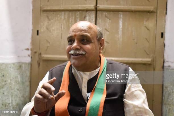 Ravinder Kumar of Bharatiya Janata Party will be contesting for MCD polls from Chandni Chowk, on April 10, 2017 in New Delhi, India.